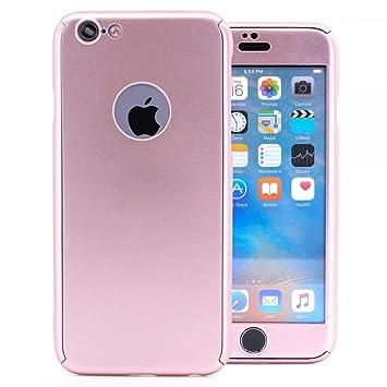 COOVY® Funda para Apple iPhone 6 / 6s 360 Grados, Carcasa Ultrafina y Ligera, con Protector de Pantalla, protección de Cuerpo Completo | Color Oro ...
