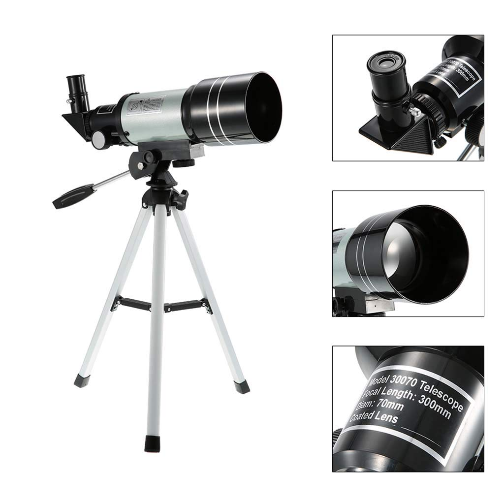 Jzmae New Professional Outdoor High List Binoculars 150X Refraction Space Astronomical Telescope Travel Observation Range with Portable Tripod Pole by Jzmae