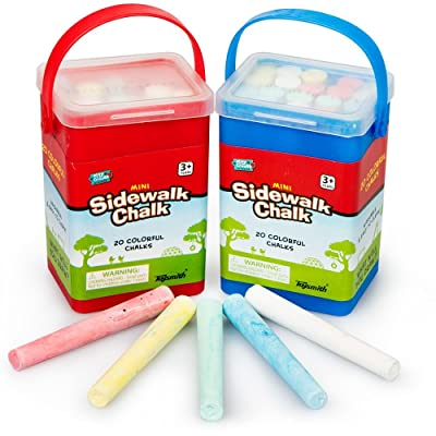 Toysmith Mini Sidewalk Chalk (20 Piece): Toys & Games