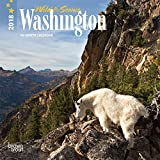 Washington, Wild & Scenic 2018 7 x 7 Inch Monthly Mini Wall Calendar, USA United States of America Pacific West State Nature
