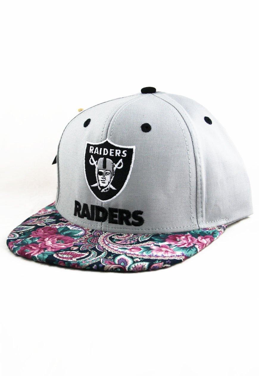 Agora Vintage Los Angeles LA Raiders Custom Paisley Snapback Hat ...