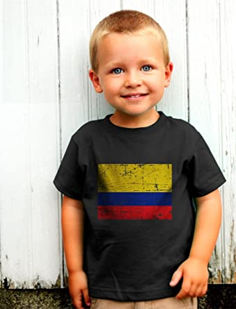 3c81f58934a Amazon.com  Colombia Flag Vintage Style Retro Colombian Toddler Infant Kids  T-Shirt  Clothing