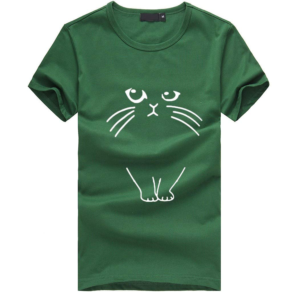 Cool Summer T-Shirt,Frog Fun Novelty Fashion Womens Loose Short-Sleeved Print Casual O-Neck Top