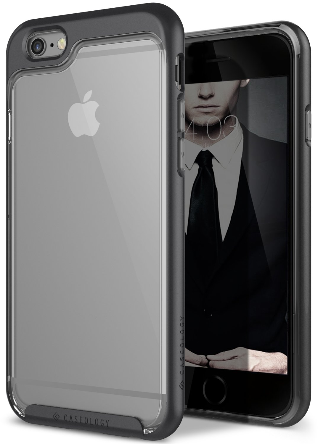 iPhone 6S Case, Caseology [Skyfall Series] Scratch-Resistant Clear Back Cover [Black] [Shock Absorbent] for Apple iPhone 6S (2015) & iPhone 6 (2014) - ...
