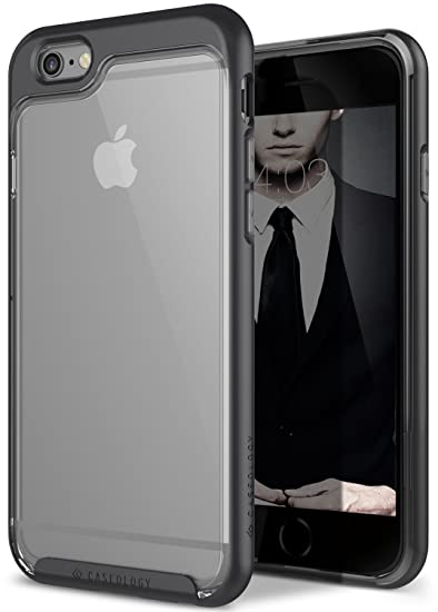 promo code 2c748 db11d iPhone 6S Case, Caseology [Skyfall Series] Scratch-Resistant Clear Back  Cover [Black] [Shock Absorbent] for Apple iPhone 6S (2015) & iPhone 6  (2014) - ...