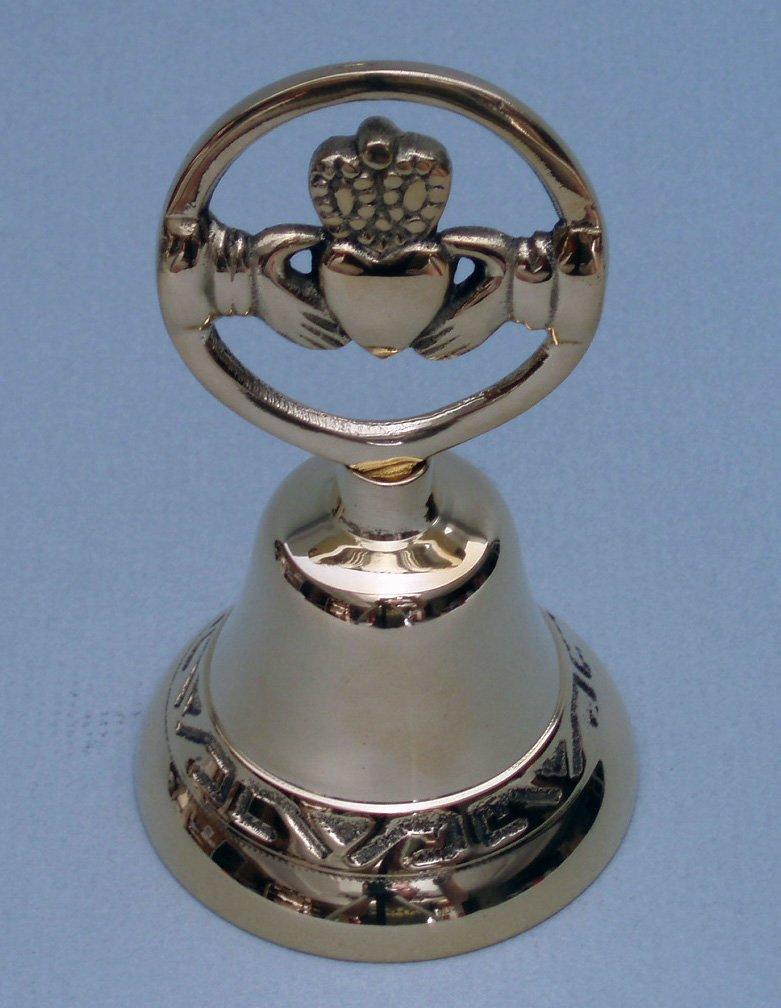 Brass Claddagh Bell