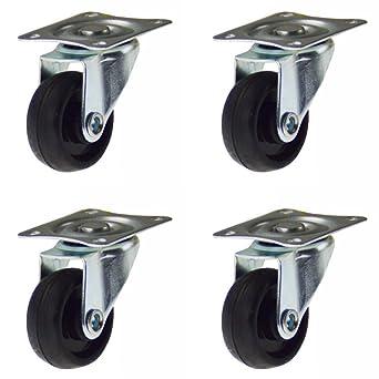 Ruedas Set Ø30 mm Max.40kg goma 4Stück ruedas ruedas de transporte goma