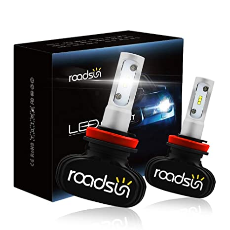 Amazon.com: ROADSUN H11 - Bombillas LED para faros ...