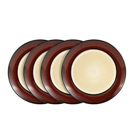 Gourmet Basics Belmont Red Round Dinner Plates 10-1/2-Inch  sc 1 st  Amazon.com : gourmet dinner plates - pezcame.com