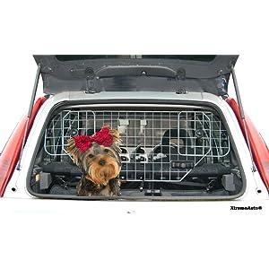 XtremeAuto - Rejilla metálica para transporte de perros en coche, incluye llavero de regalo