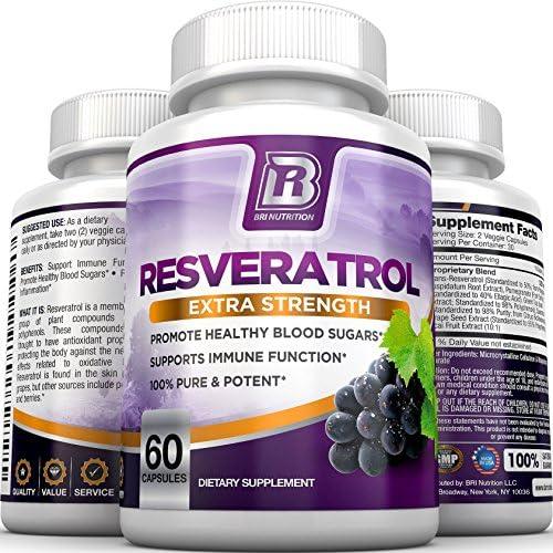Amazon Com Bri Resveratrol 1200mg Potent Trans Resveratrol