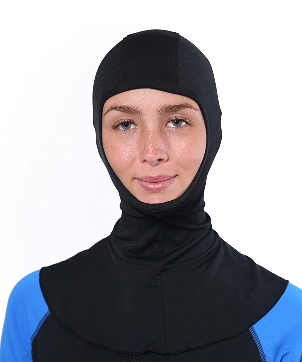 Black EcoStinger Women Sun Protective UV Hood Balaclava Chlorine Resistant UPF50