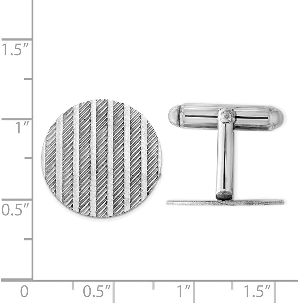 Beautiful Sterling silver 925 sterling Sterling Silver Rhodium-plated Cuff Links