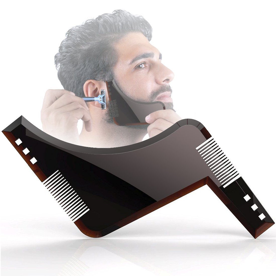 Barba Capo Specchio Ventose Lasciate Che Il Vostro Bagno Pulire Attiant Grembiule per Barba e La Barba Modello di acconciatura Non Si preoccupano di Pulire Barba Passamanerie