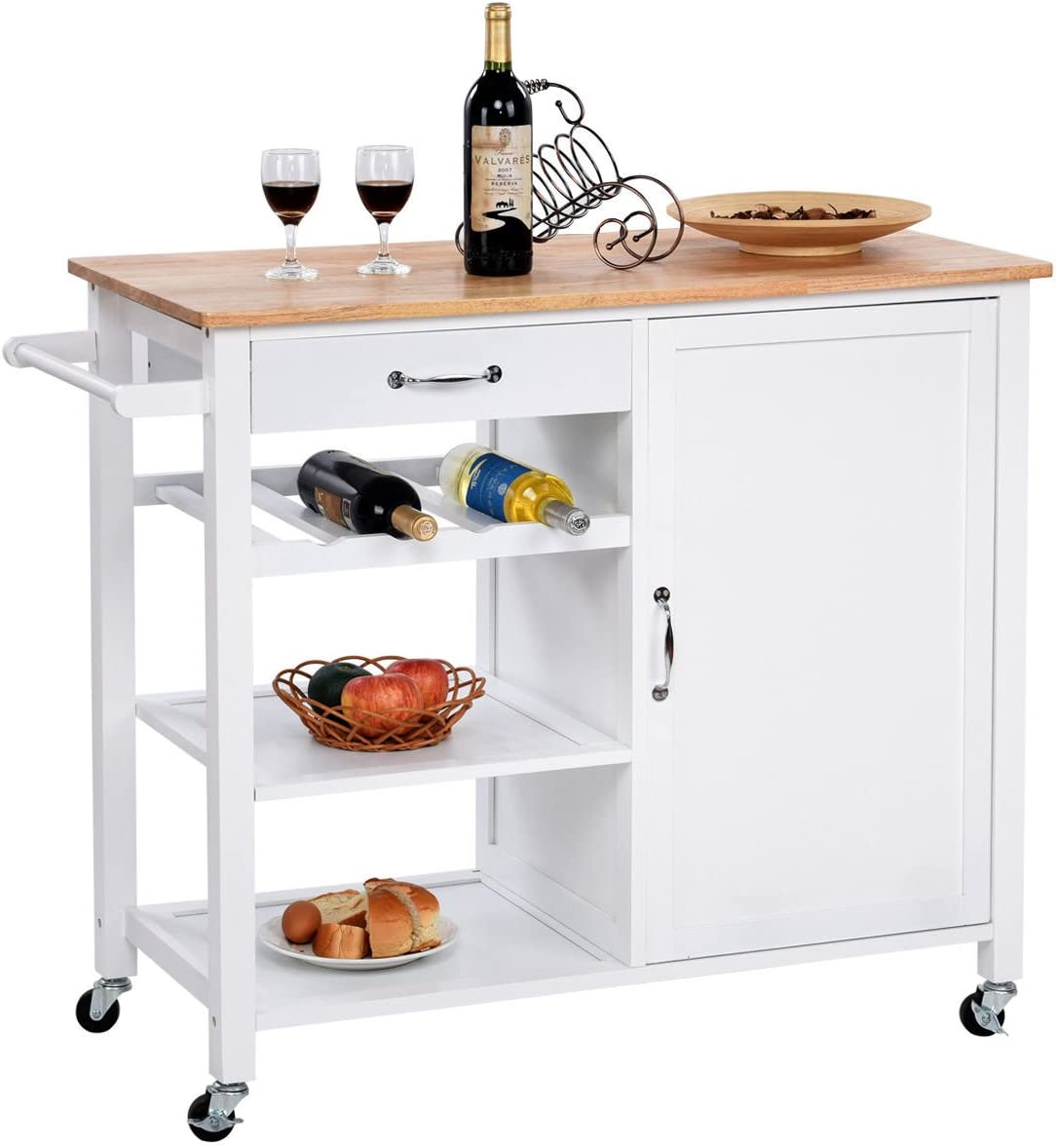 giantex 4 tier kitchen trolley cart     kitchen islands  u0026 carts   amazon com  rh   amazon com