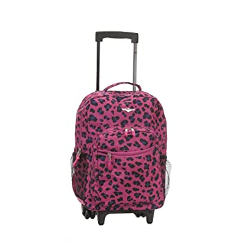 Amazoncom Girls Pink Leopard Print Backpack Animal Pattern