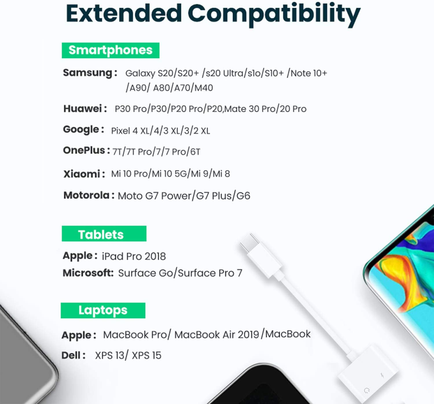 Compatible with Pixel 4 3 2 XL USB C to 3.5mm Headphone Adapter Galaxy S20 Ultra Z Flip N10 S10 S9 Plus iPad Pro 2 Pack Type C Male to 3.5mm Female Headphone Jack Audio Dongle Cable Cord