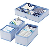 mDesign Juego de 4 cajas organizadoras en polipropileno