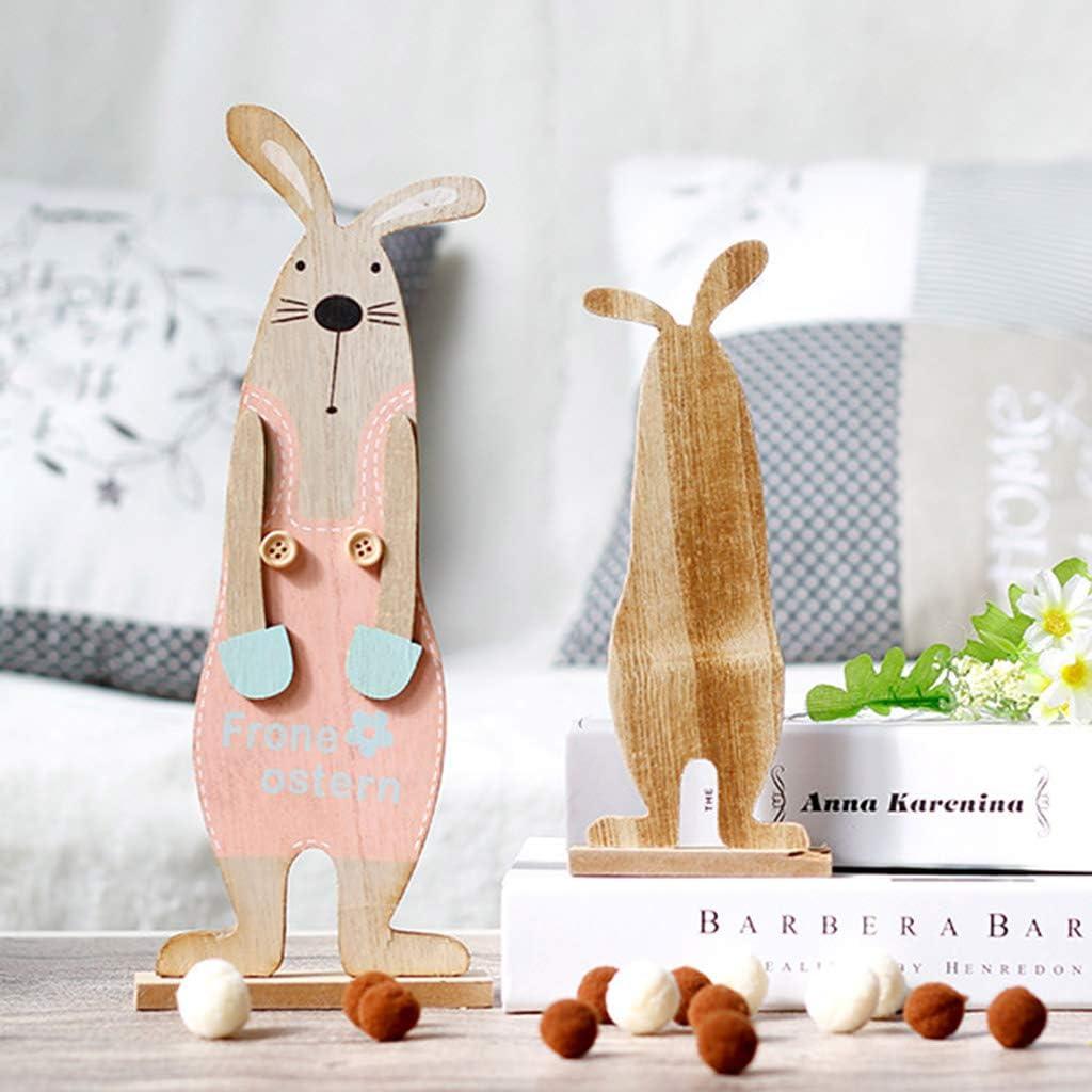 Creative Easter Rabbit Decoration DIY Wood Premium Bunny Pendant Home Accessory