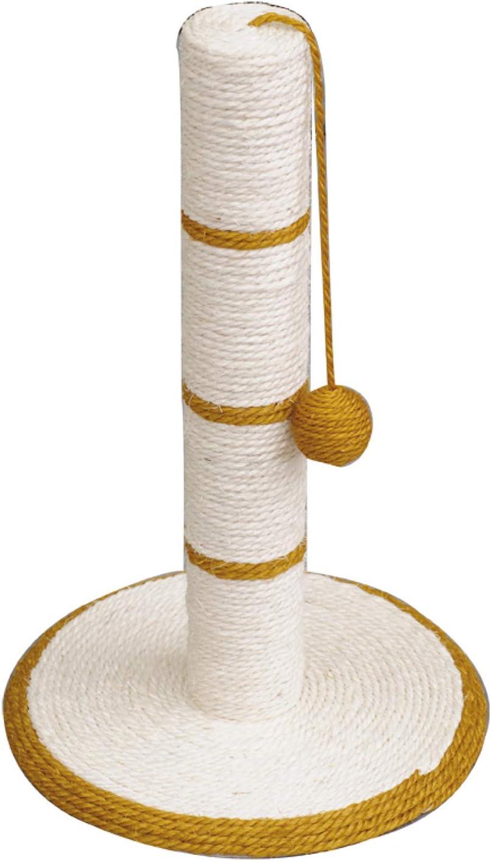 Rascador blanco/dorado con bola
