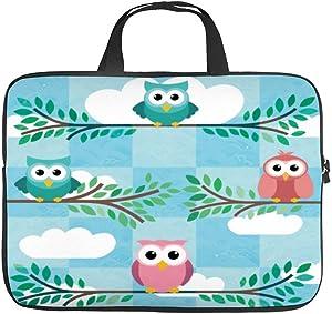 Neoprene Sleeve Laptop Handle Bag Handbag Notebook Case Cover Owl Portable MacBook Laptop/Ultrabooks Case Bag Cover 17 Inch