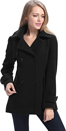 Amazon.com: BGSD Women's Piper Wool Blend Pea Coat (Regular, Plus Size &  Short): Clothing