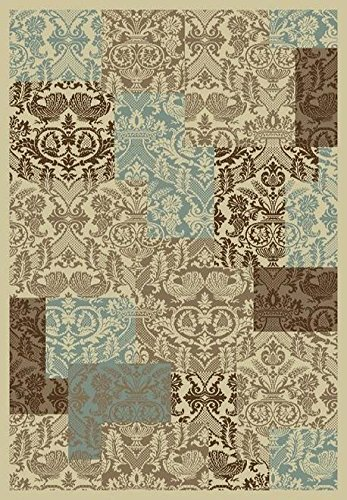 Concord Global Chester 9861 Patchwork 7'10'' x 10'6'' Soft Rug by PlushRugs.com