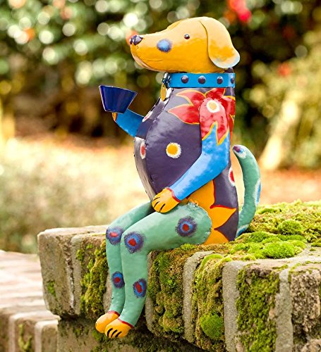 Talavera-Inspired Metal Animal Garden Sculpture, 9