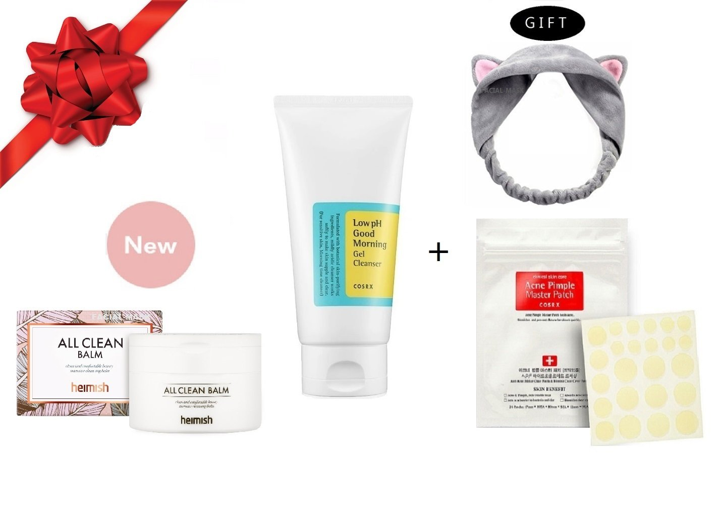 Heimish All Clean Balm & Cosrx Low PH Good Morning Gel Cleanser Bundle with Gifts (4 ITEMS)