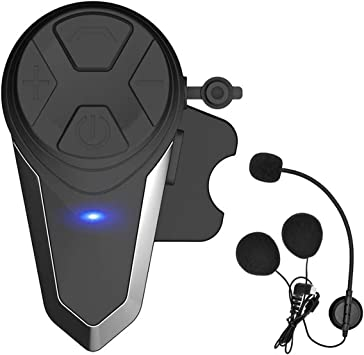 Motorcycle Bluetooth Intercom Communication System BT-S3 Interphone Moto Helmet Bluetooth Headset Wireless Intercom Headset FM Radio//Waterproof//Handsfree//Range-1000M