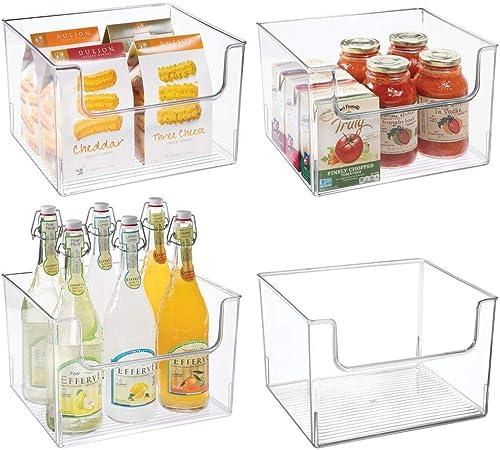 mDesign Juego de 4 cajas de almacenaje de alimentos – Organizador ...