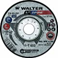 """Walter Surface Technologies 11T642 Walter ZIP One High Performance Cut-off Wheel, Metal Hub Quick Change Symmetrical, Aluminum Oxide, 4-1/2"""" Diameter, 1/32"""" Thick, 7/8"""" Arbor, Type 27, Grit ZA-60-ZIP (Pack of 25)"""