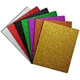 Pumpkin Brother Shiny Glitter Heat Transfer Vinyl HTV Bundle for T Shirts,Jacket,Bags,Hats,Cotton Fabric,DIY Your own Clothes, 12x10 inch, 7 Color Pack