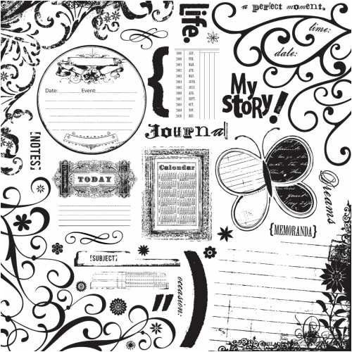 (Fancy Pants Acrylic Stamp 12x12: in My Words)