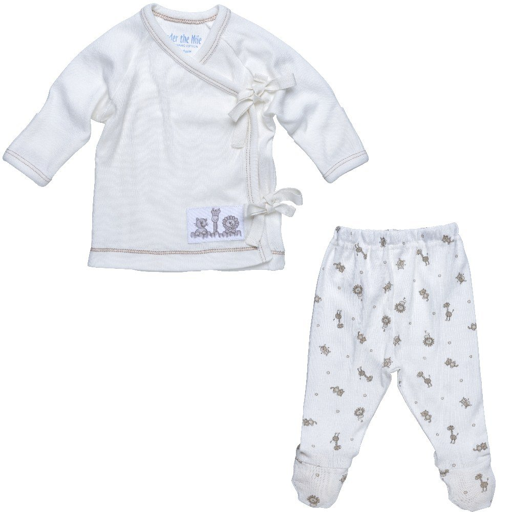 Animal Print 3-6 months Under The Nile 2-Piece Layette Set