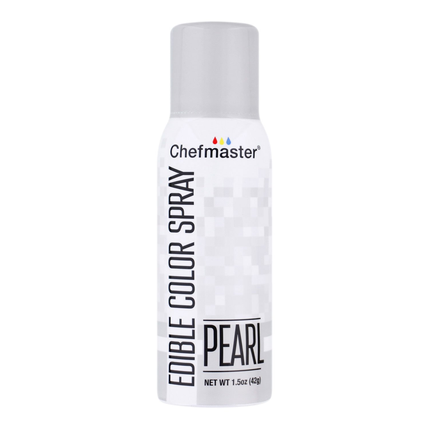 Chefmaster Edible Spray Cake Decorating Color 1.5oz Can - Metallic Pearl by Chefmaster