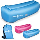 Inflatable Lounger Air Sofa, Rockpals Anti-Air Leaking Waterproof Portable Inflatable Couch, with Carrying Bag Securing…