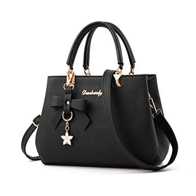 61ae73f6d708 Women s Leather Handbags Fashion Handbags for Women Ladies Bags Handbags  Black