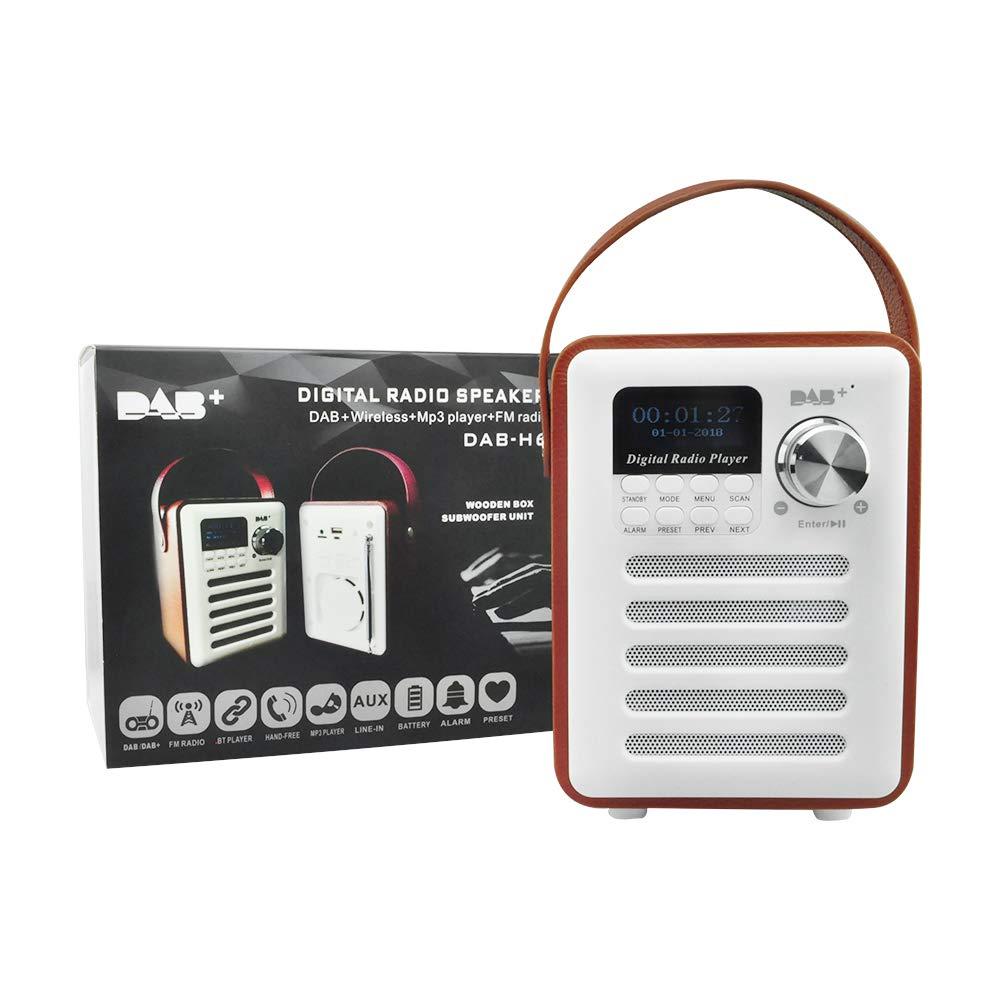 Freeauto Radio num/érique Portable Dab//Dab+//FM avec Alarme Bluetooth et minuteur de Cuisine