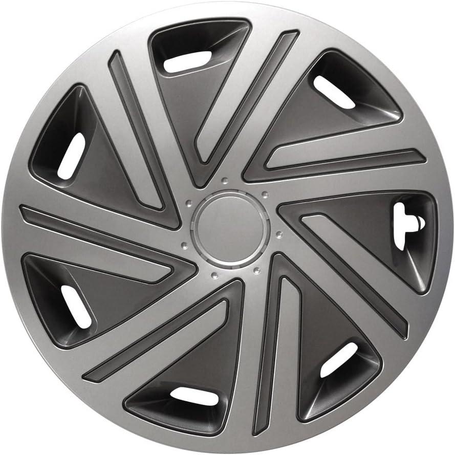 Radzierblenden 15 Zoll passend f/ür fast alle Fahrzeugtypen ! Graphit-Silber CYRKON Gr/ö/ße und Farbe w/ählbar universell