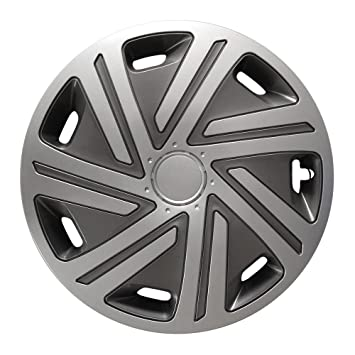 Cyrkon Wheel Trims Hub Caps Graphite 16 Inch for Peugeot 106, 107, 1007, 205, 206, 306, 309, 405, Partner: Amazon.co.uk: Car & Motorbike