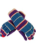 Portolano Women's Striped Cashmere Blend Gloves