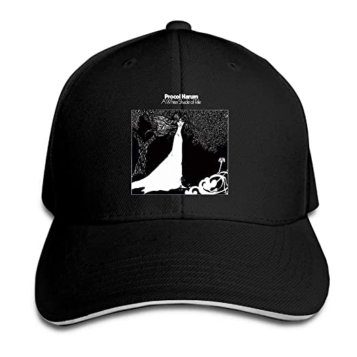 21676b5ca09 Foreveryoungforyou Adult Procol Harum A Whiter Shade of Pale Reversed  Baseball Snapback Hat Black Black at Amazon Men s Clothing store