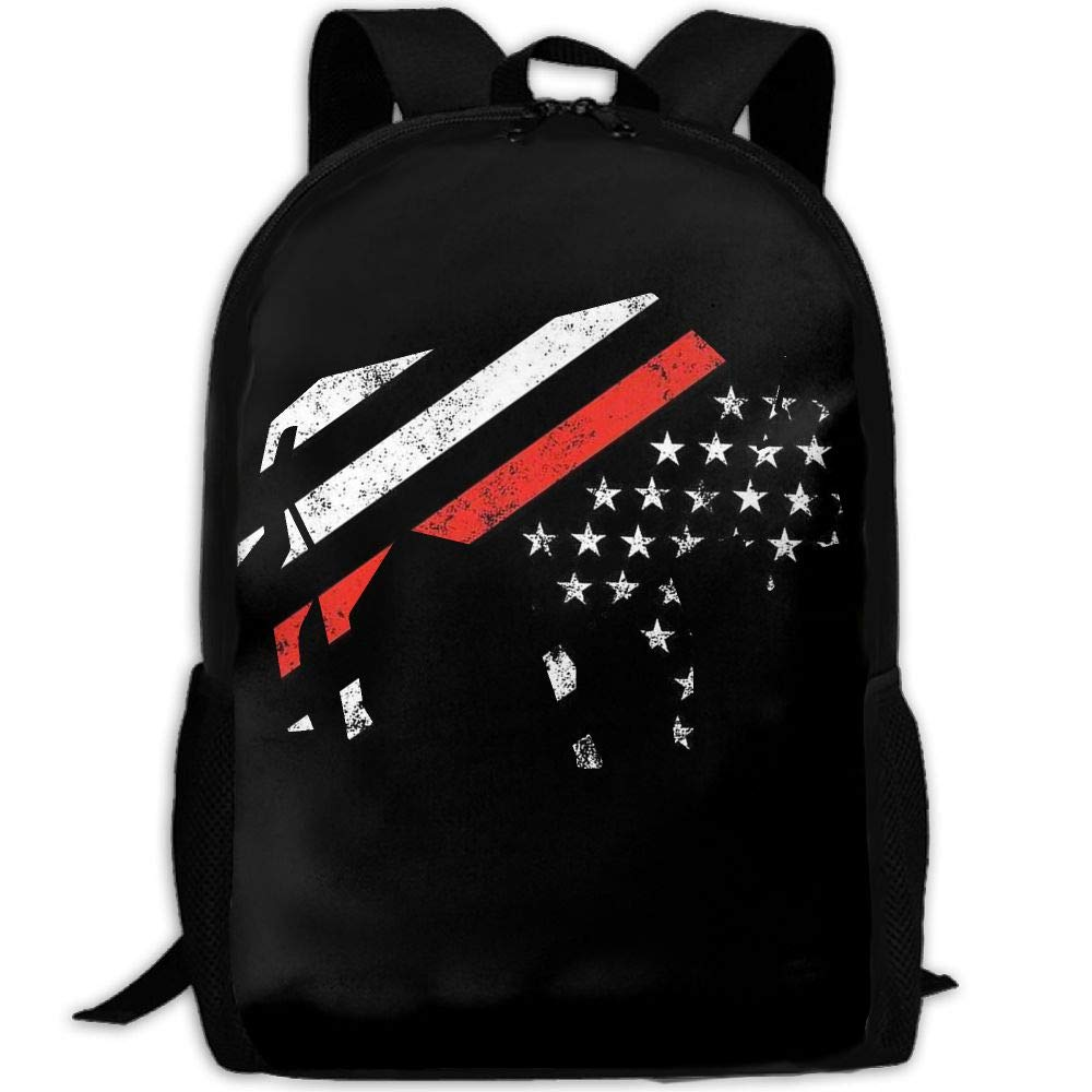 OIlXKV Cool Bison American Buffalo Print Custom Casual School Bag Backpack Multipurpose Travel Daypack For Adult