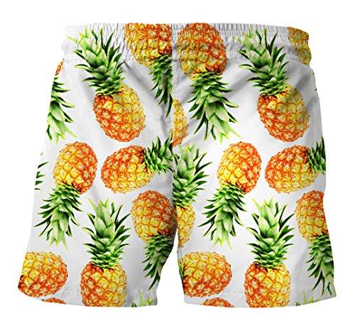 Protezione Mare Hawaii Uv Da Spiaggia Surf Plus Con 3d Ocean Bagno Ananas Stampa Coulisse Pantaloncini Estiva Uomo H2YEDIW9