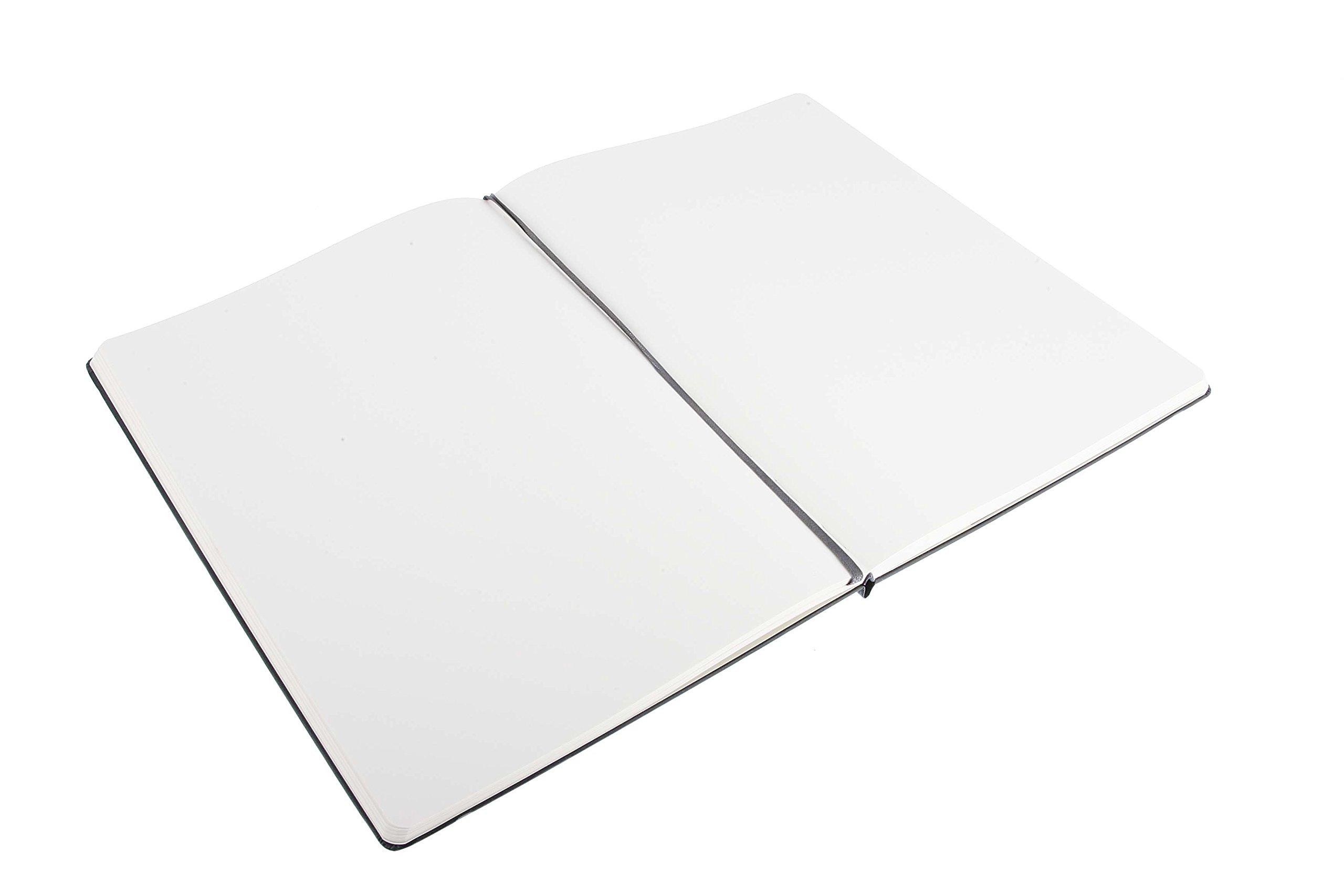 Moleskine Folio Professional Notebook, A4, Plain, Black, Hard Cover (8.25 x 11.75) (Professional Folio Series)