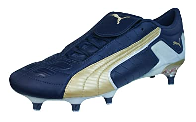 PUMA V Konstrukt II SG Mens Leather Soccer Boots/Cleats-Navy-7