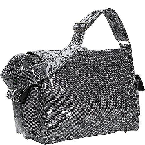 Kalencom Laminated Buckle Bag, Black Crystals by Kalencom (Image #3)