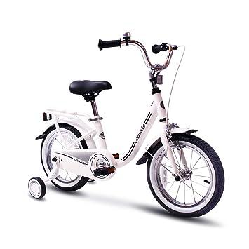 COEWSKE Bicicleta para niños con Marco de Acero para niños, Bicicleta de 16 Pulgadas con Rueda de Entrenamiento (Blanco): Amazon.es: Deportes y aire libre