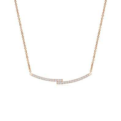 7c8afb7cb82c Amazon.com  Lab Grown Diamond Horizontal Double Bar Necklace in 14k ...